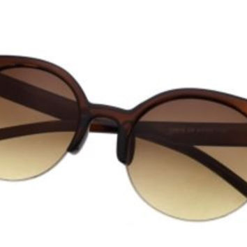 Retro Cat-Eyed Sunglasses