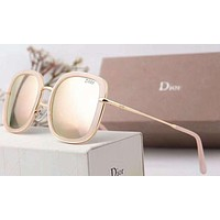 Dior Women Fashion Popular Summer Sun Shades Eyeglasses Glasses Sunglasses Sliver Grey G-A-SDYJ