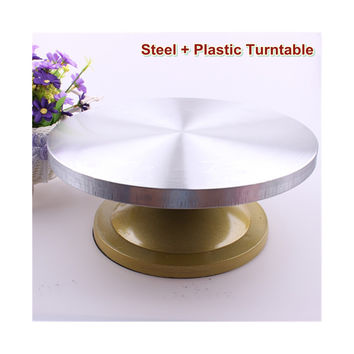 New tool steel clad Baking Pastry cream cake turntable turntable 30cm baking pottery wheel