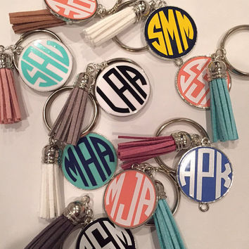 Tassel Key Chain- Monogrammed! Tassels are back in style!