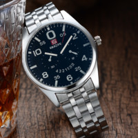 Stainless Steel Mens Cool Watch with Gift Box