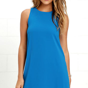 Harmonious Blue Shift Dress