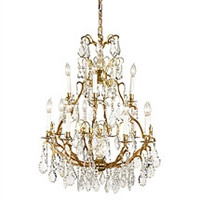 Frederick Cooper    Crystal  and Gold Chandelier