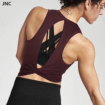 Open Back Knotted Yoga Top