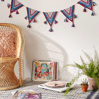 Ghita Applique Flag Banner - Urban Outfitters