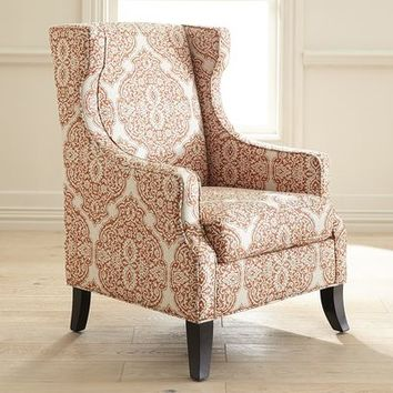 Alec Wing Chair - Persimmon