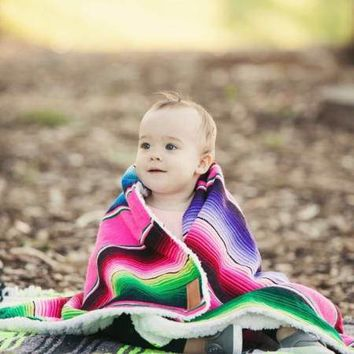 Meadow Serape Mexican Baby Blanket