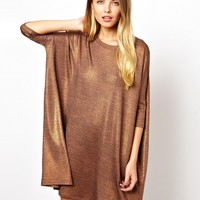 ASOS Metallic T-Shirt Dress