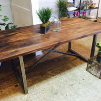 Rustic Solid Walnut Dinning Table