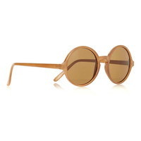 BROWN RETRO ROUND SUNGLASSES - Sunglasses & Glasses - Shoes and Accessories - TOPMAN USA