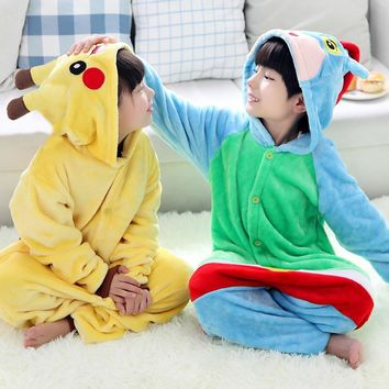 Kids Unisex Children Pajamas Anime Cosplay Costume Halloween Unicorn Pajamas Winter infantil Onesuit ropa de bebe pijama menino