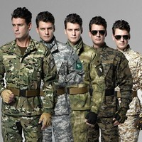 training uniforms Army military tactical  set cargo pants +jacket camouflage army outdoor men  camping hiking hunting