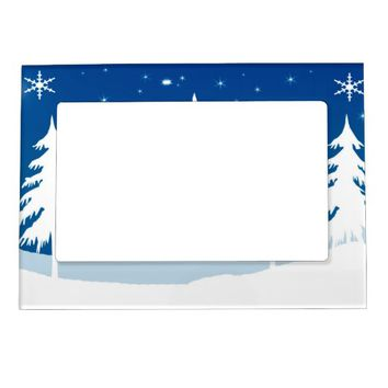 Winter Scene Magnetic Picture Frame