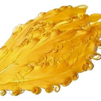 Yellow curly nagorie feather pad