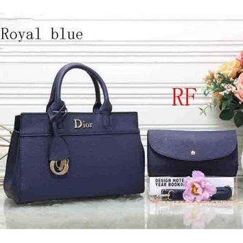 DCCKB62 Dior 2018 latest leather female trendy handbag shoulder bag (Two sets) F-RF-PJ Royal blue
