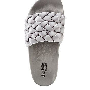 Satin Braided Slide Sandals | Charlotte Russe