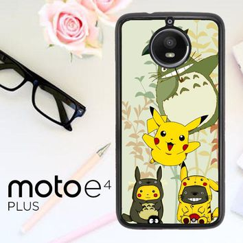 Totoro Love Pikachu Pokemon Z3271 Motorola Moto E4 Plus Case