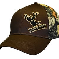 Brown/Camo Tilt Hat