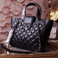 CHANEL WOMEN NEW STYLE LEATHER CHAIN HANDBAG SHOULDER BAG