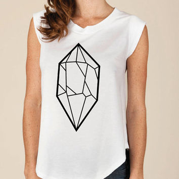 Alternative Apparel Cap sleeve Gem Tee