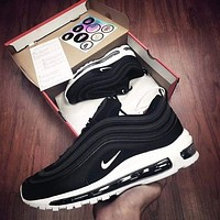 NIKE AIR MAX 97 Fashion Running Sneakers Sport Shoes Black
