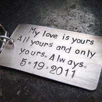 My Love Anniversary or Wedding Keepsake Keychain by JLynnCreations