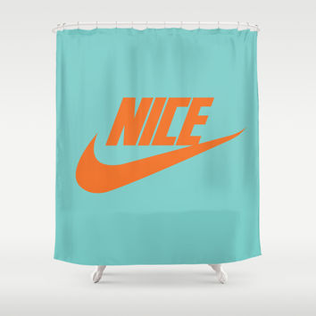Nike Nice Shower Curtain by Tony Vazquez
