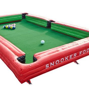 Inflatable snooker table