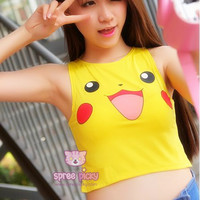 Pokemon Pikachu Crop Top and Undies Set SP152252