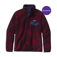 Patagonia Women's Lightweight Synchilla® Snap-T® Pullover   Barceloneta: Classic Red