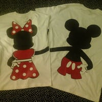 Disney Inspired Couples TShirts Fullbody Minnie Holding Hands Mickey Minnie Tshirts For Any Loving Couple