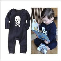 Baby boys romper Skull Heads long sleeve children clothing