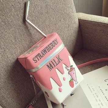 Strawberry Milk / Lemonade Crossbody Bag