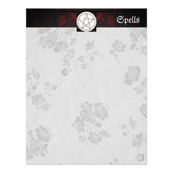 Gothic Eternal Red Cherry Blossoms Spell Page