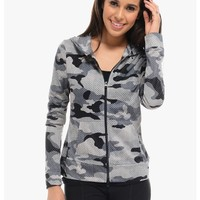 Gray Mesh My Sport Jacket | $10.00 | Cheap Trendy Active Top Chic Discount Fashion for Women | ModD