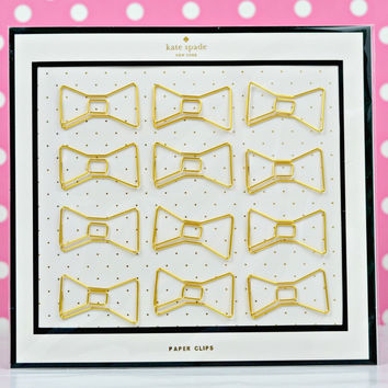 kate spade new york: paper clips - bow lovely