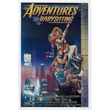 Adventures In Babysitting poster Metal Sign Wall Art 8in x 12in