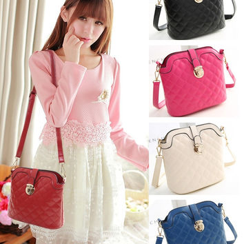 New Fashion  Candy Colors Shoulder Diagonal Bucket Women Package Messenger Packet