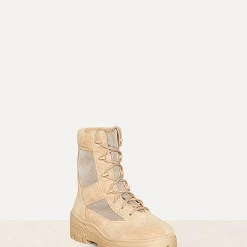 YEEZY Season 4 Mens Combat Boot Crosta Light Sand Calfskin Suede