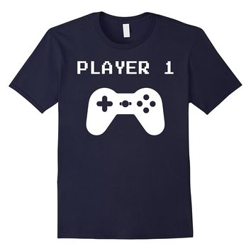 Player 1 - Matching Player 1 Player 2 Shirts for Gamers