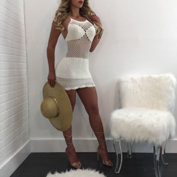 Jasmine Crochet Mini Coverup