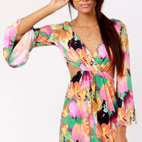 Made for Rockin' Cutout Floral Print Dress