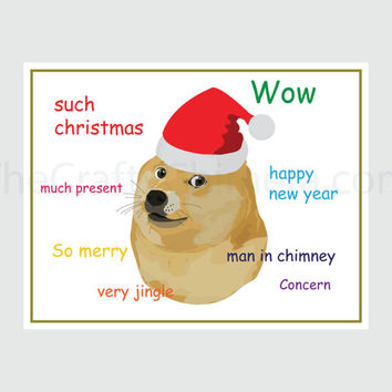 Doge Printable Christmas Card