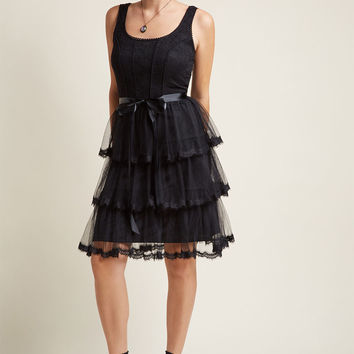 Twirling in Tulle A-Line Dress