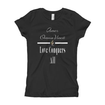 Amor Omnia Vincit / Love Conquers All T-Shirt For Girls