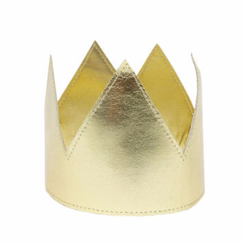 Child's Gold Metallic Crown