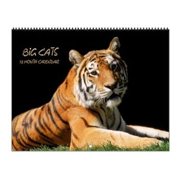 Big Cats Wildlife Wall Calendar> Calendars and Calendar Posters> SpiceTree Gift Shop