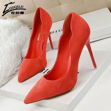 Brand designer shoes women luxury 2017 high heels shoes woman pumps ladies wedding shoes black red office high heel shoes