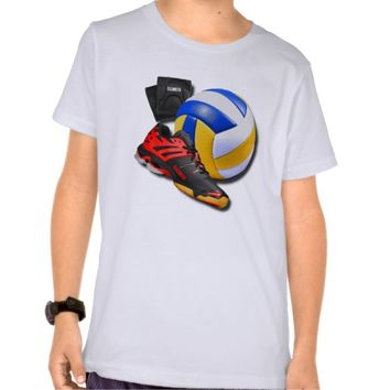 Volleyball Shoe Ball Knee Pads With Your Name Tee Shirt