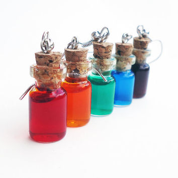 POTION EARRINGS  geeky jewelry  choose your colors  by FrozenNote